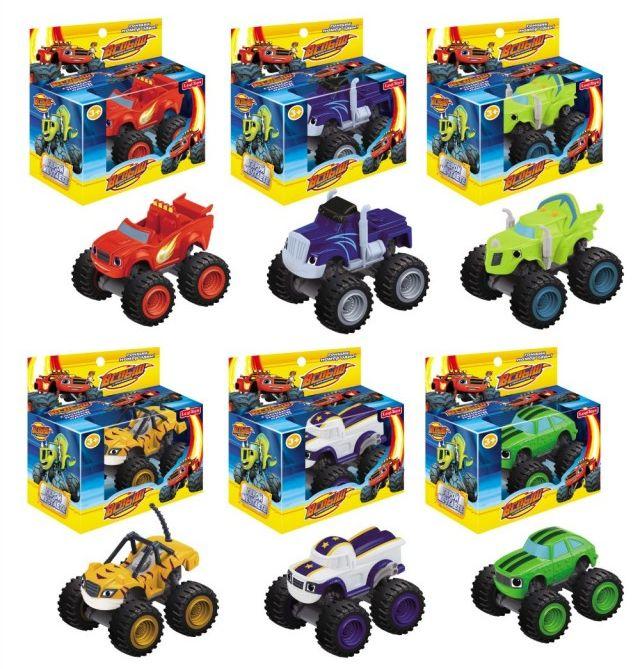 Набор 6 машинок 8 см в отдельных коробках (Вспыш и Чудо-машинки)