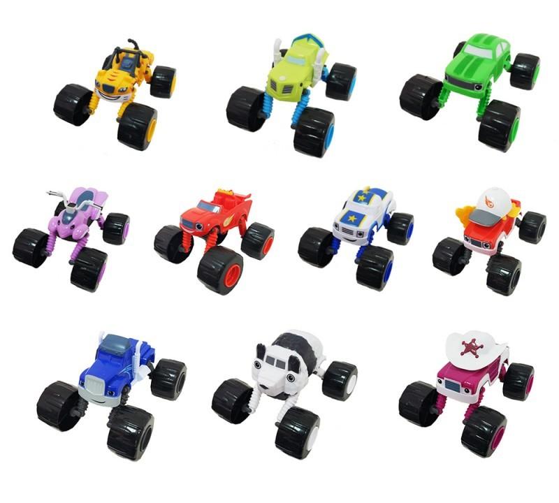 Набор 10 машинок 13 см с раздвижными колесами (Вспыш и Чудо-машинки)
