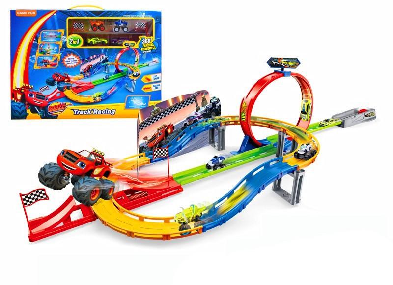 Игровой набор Гоночный трек + 4 машинки (Вспыш и Чудо-машинки)
