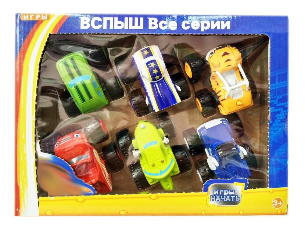 Подарочный набор 6 машинок 8 см (Вспыш и Чудо-машинки)