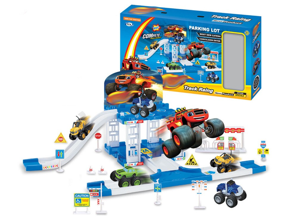 Игровой набор Автодром + 2 машинки (Вспыш и Чудо-машинки)