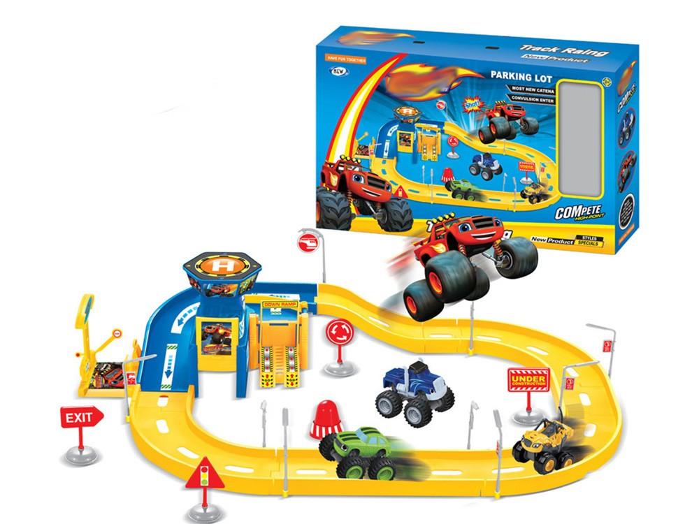 Игровой набор Кольцевые гонки + 2 машинки (Вспыш и Чудо-машинки)