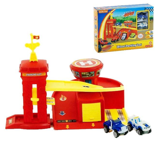 Игровой набор Автопарковка Вспыша + 2 машинки (Вспыш и Чудо-машинки)