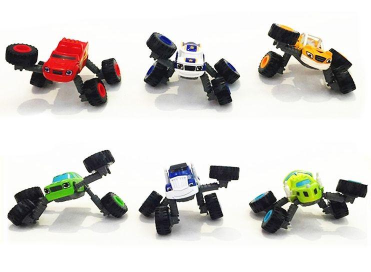 Набор 6 машинок 8 см с раздвижными колесами (Вспыш и Чудо-машинки)