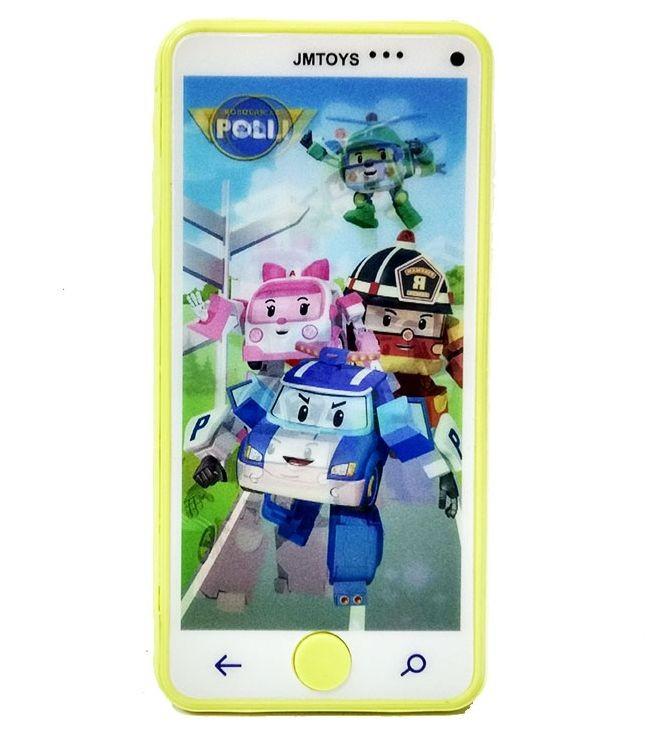 Интерактивный телефон Робокары желтый