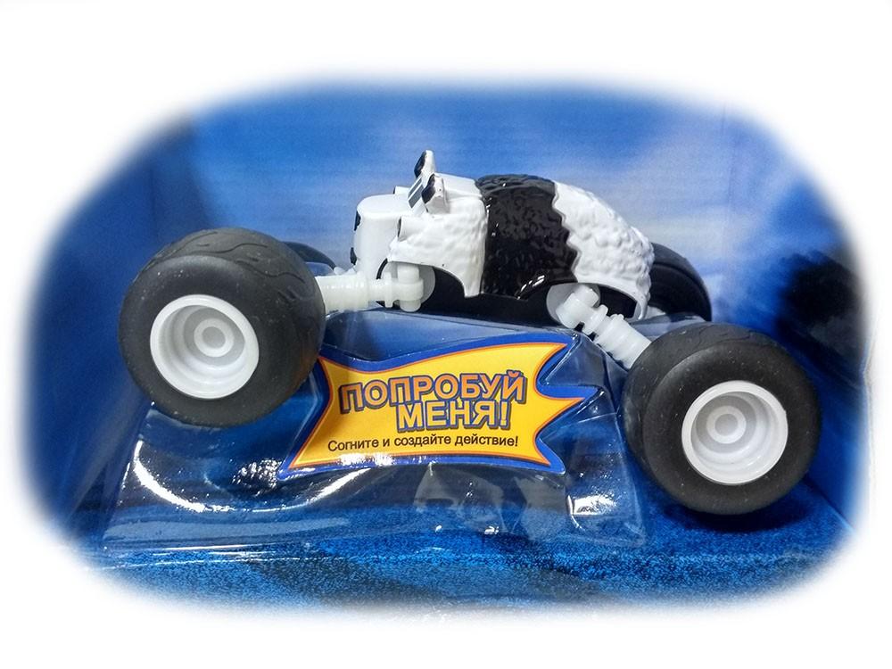 Машинка Панда с раздвижными колесами 18 см (Вспыш и Чудо-машинки)
