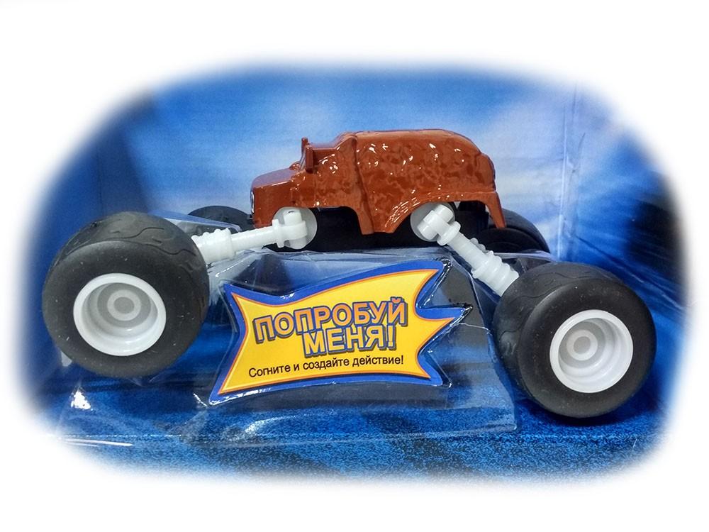 Машинка Мишка с раздвижными колесами 18 см (Вспыш и Чудо-машинки)