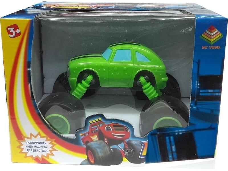 Машинка Огурчик с раздвижными колесами 15 см (Вспыш и Чудо-машинки)