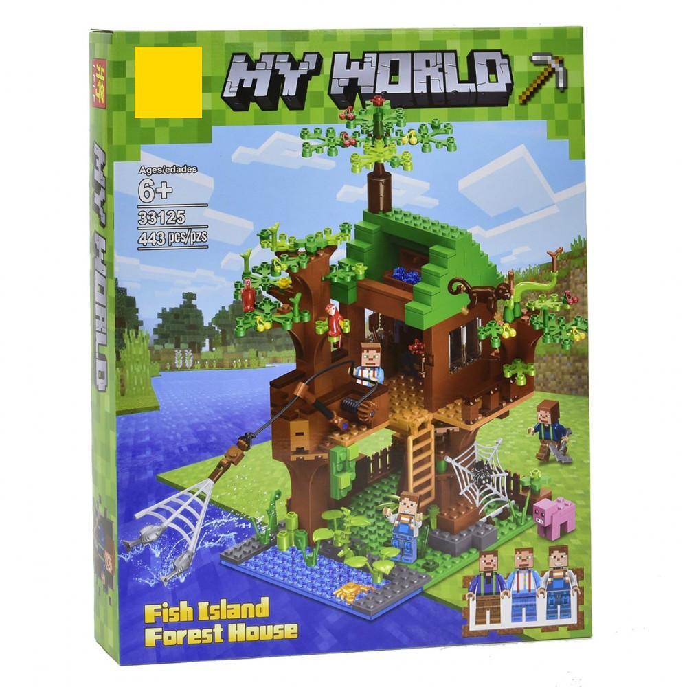 Конструктор Дом у реки Micro World Майнкрафт 443 деталей (Minecraft 33125)