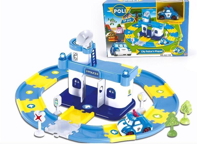Игровой набор Автопарк Поли (станция, трек + машинка Robocar Poli)